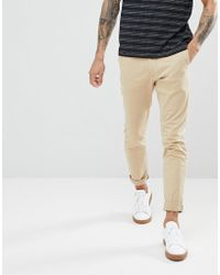 Hollister Pantalon chino stretch ultra ajust - Neutre