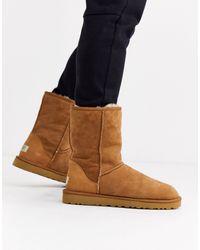 UGG Замшевые Короткие Ботинки Каштанового Цвета -коричневый