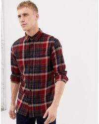 SELECTED - Geruit Regular-fit Flanellen Overhemd - Lyst
