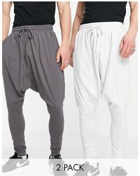 ASOS Lightweight Extreme Drop Crotch sweatpants - Gray