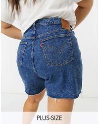 Levi's Pantalones vaqueros cortos en azul lavado medio 501 Original de