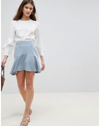 ASOS Fit-and-flare Minirok - Blauw