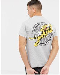 Cheats & Thieves Flying Tiger Back Print T-shirt - Gray