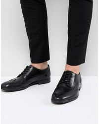 H by Hudson - Aylesbury Leather Brogues In Black - Lyst