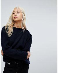 AllSaints - Faye Oversized Slash Neck Jumper - Lyst