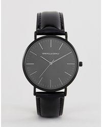 ASOS Horloge Met Lakleren Band - Zwart
