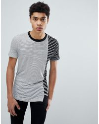 D-Struct - Cut And Sew Asymetrical T-shirt - Lyst