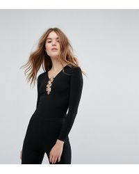 New Look Ring Detail Body - Black