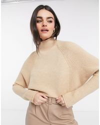 River Island High Neck Knit Sweater - Brown