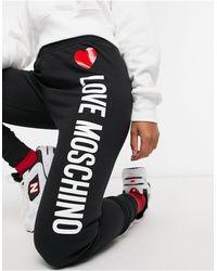 Love Moschino Черные Джоггеры С Логотипом На Бедре -черный
