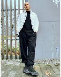 Bershka Padded Puffer Jacket - White
