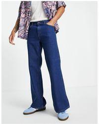 TOPMAN Flared Jeans - Blue