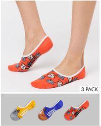 Vans Best Bud Ii Canoodles 3pk Socks - Multicolour