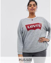 Levi's - Свободный Свитшот С Круглым Вырезом И Логотипом -серый - Lyst