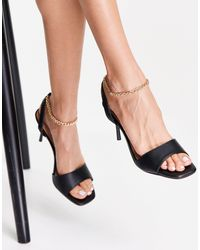 New Look Ankle Chain Heeled Sandal - Black