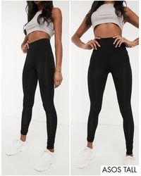 ASOS Asos Design Tall 2-pack leggings - Black