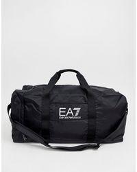 EA7 Черная Спортивная Сумка С Логотипом Train Prime - Многоцветный