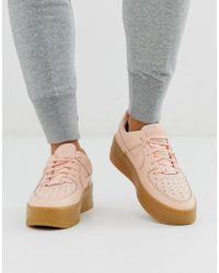 Fraaie Nike Air Max 1 Essential Sneakers Dames (wit roze