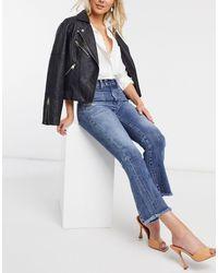 DIESEL Cropped Jeans Met Wijd Uitlopende Pijpen En Midwash - Blauw