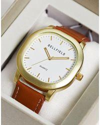 Bellfield Коричневые Квадратные Часы -коричневый