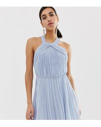 51ab99c585c ASOS Maternity Nursing Shift Dress With Wrap Over in Natural - Lyst