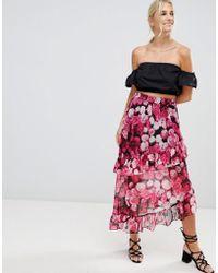 NA-KD - Asymmetric Flounce Skirt - Lyst