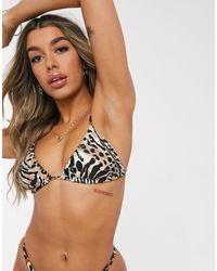 Billabong Wild Waves Reversible Triangle Bikini Top - Brown