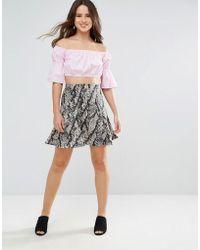 Louche - Krissy Snake Print Skirt - Lyst