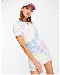 Vans Разноцветное Платье-футболка Со Спиральным Принтом Тай-дай -многоцветный