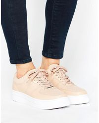 Pull&Bear - Leather Look Chunky Sneaker - Lyst