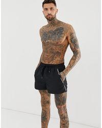 Calvin Klein Черные Шорты Для Плавания С Фирменной Лентой - Черный