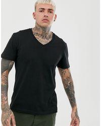 ASOS T-shirt With V Neck - Black