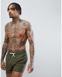 Blend Khaki Swim Shorts - Green