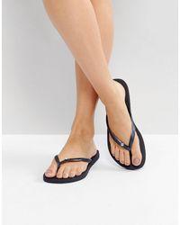 Havaianas - Slim Crystal Flip Flops - Lyst