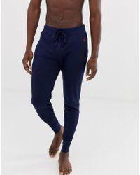 Polo Ralph Lauren Jogger confort resserré aux chevilles en maille gaufrée à logo joueur de polo - Marine - Bleu