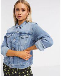 Calvin Klein Голубая Классическая Джинсовая Куртка -синий