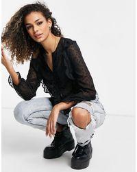 Miss Selfridge Blusa negra - Negro