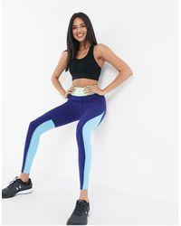 ASOS 4505 Leggings en colour block - Azul