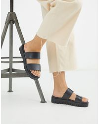 ASOS Fletch Chunky Jelly Flat Sandals - Black
