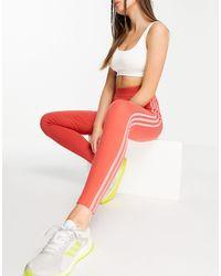 adidas Originals - Красные Леггинсы С 3 Полосками Adidas Training-красный - Lyst