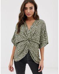ASOS Top estilo kimono - Multicolor