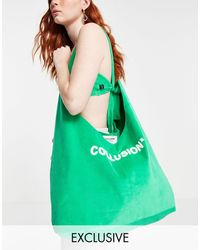Collusion Bolso shopper verde