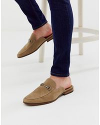 New Look Backless Loafer In Stone - Multicolor
