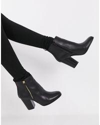 ALDO – Noemieflex – Stiefelette mit Absatz und Reißverschluss - Schwarz