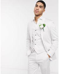 ASOS Wedding Slim Suit Jacket - Gray