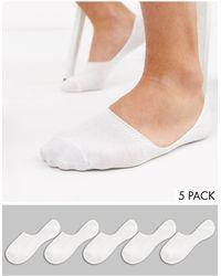 New Look - Confezione da 5 paia di fantasmini bianchi - Lyst