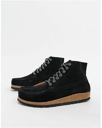 Birkenstock Черные Ботинки На Плоской Подошве -черный