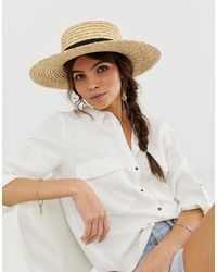 ASOS Natural Straw Easy Boater With Size Adjuster
