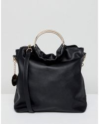 Faith - Slouch Tote Bag With Circle Handle - Lyst