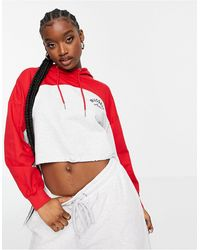 Russell Athletic Hoodie rétro court - Rouge